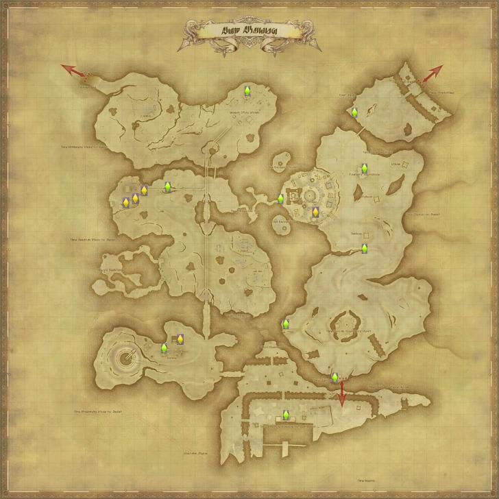 アム・アレーン 風脈の泉 地図