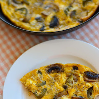 Mushroom and Jalapeno Frittata with Cream Cheese