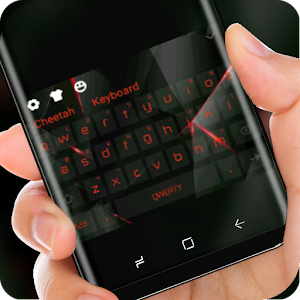 Black Red Polygon Input Glass Theme