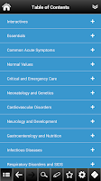 Screenshot of Pediatrics pocket