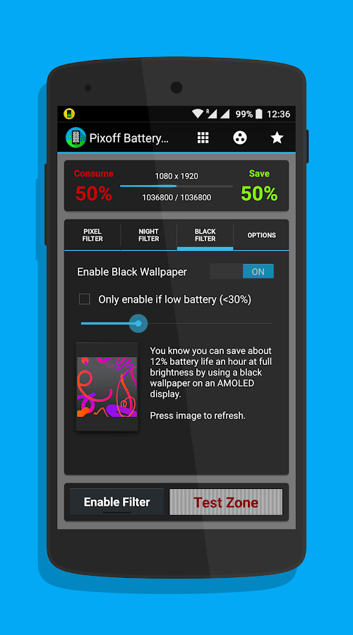 Pixoff: Battery Saver PRO Screenshot 2