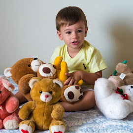 Friends by Lucas Mendonca - Babies & Children Babies ( stuffed animals, friends, happy, innocence, fun )