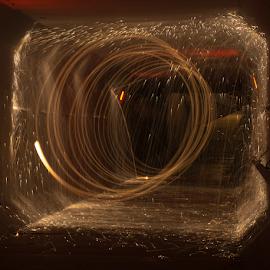 Spinning Tunnel by Tina Hailey - Abstract Light Painting ( abstract, light painting, spinning, tina's captured moments, tunnel )