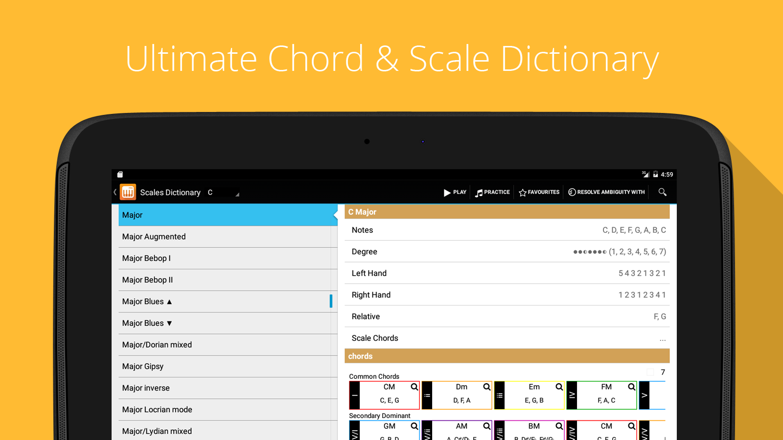 Piano Companion PRO: chord Screenshot 5
