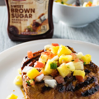 Grilled BBQ Pork Chops with Pineapple Salsa