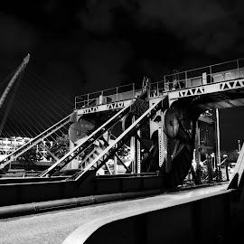 Architecture by Jimmy Fitz - Buildings & Architecture Architectural Detail ( structure, dark, night, bridge, road, architecture )