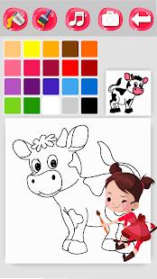 Игры раскраски корову