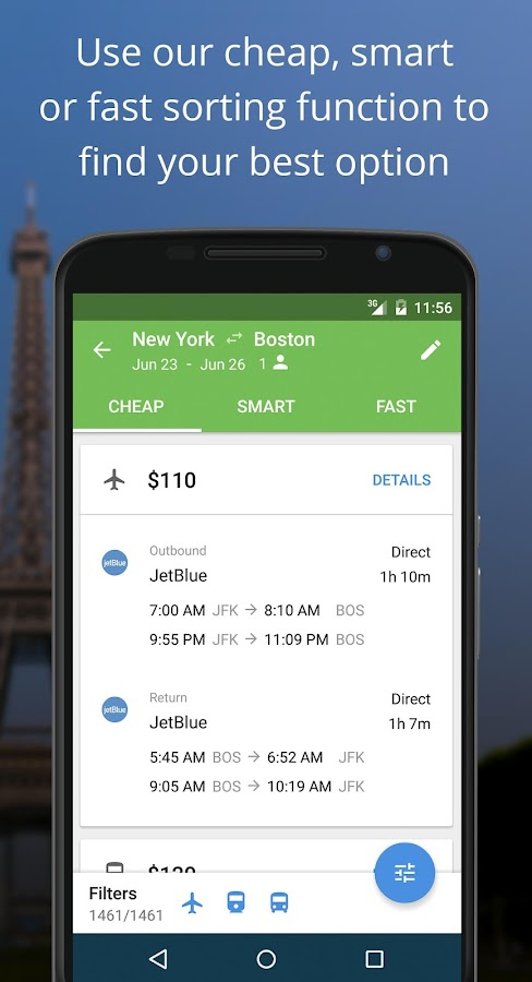 Liligo Find Cheap Flight Deals Screenshot 1