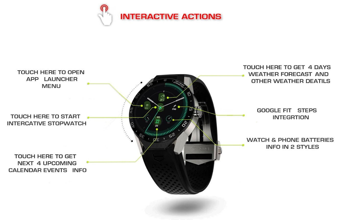 Minimus Interactive Watch Face Screenshot 8