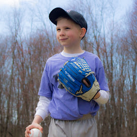 Baseball Portrait by William Hayes - Novices Only Sports ( baseball, son, americas pastime, spring, little league,  )