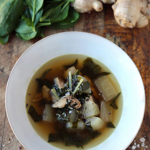 Daikon and Chicken Soup