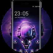 Neon skull Rock Theme for Cool Music Lover HD APK for Bluestacks