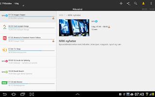 Screenshot of TVGuiden (reklamefri)