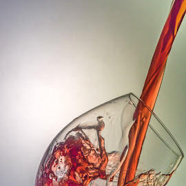 Pouring wine  by Ovidiu Sova - Food & Drink Alcohol & Drinks ( red wine, alcohol, drink, pouring, wine glass, light,  )