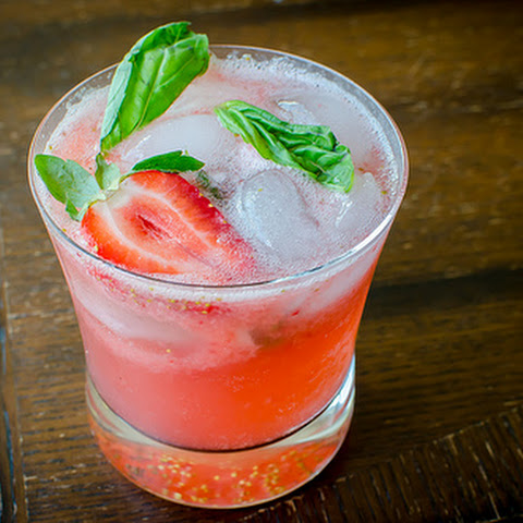 Strawberry-Basil Mojitos