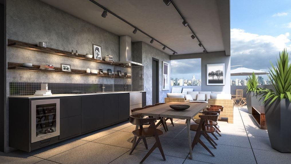 Perspectiva da Cobertura Duplex Superior 152 m²
