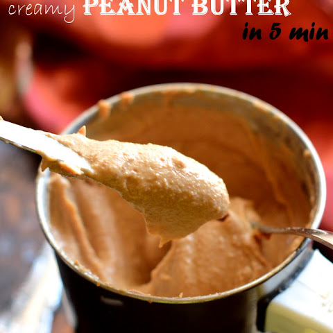 HOMEMADE PEANUT BUTTER IN 5 MINUTES