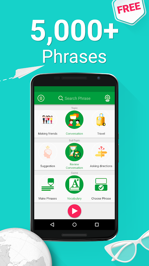 Learn Arabic - 5000 Phrases Screenshot