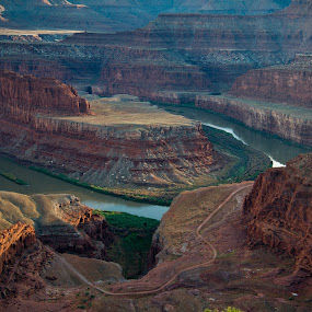 Dead Horse Point by Bud Walley - Landscapes Deserts ( moab, utah, state park, dead horse point, canyons, green river )