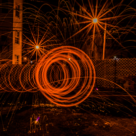 Steel The Night by Michael Phillips - Abstract Light Painting ( light painting, night photography, nikon d3100, long exposure, somerville ma )