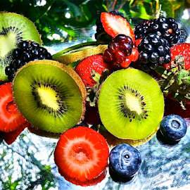{ Todays Picks ~ Blue Berry's & Kiwi ~ Red & Green Grapes & Straw Berry's ~ 21 July }   by Jeffrey Lee - Food & Drink Fruits & Vegetables ( { todays picks ~ blue berry's & kiwi ~ red & green grapes & straw berry's ~ 21 july } )