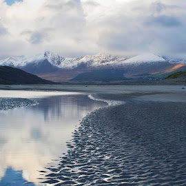 Fermoyle Winter sunrise. by Judy Mulholland - Landscapes Weather ( dingle brandon mountains beach ireland kerry )