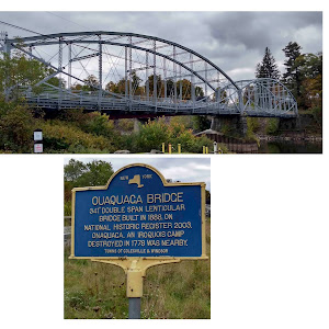 New YorkOuaquaga Bridge341' double span lenticular bridge built in 1888. On National Historic Register 2003. Onaquaga, an Iroquois camp destroyed in 1778 was nearby.Towns of Colesville and ...