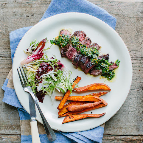 Hanger Steak with Orange-Oregano Chimichurri