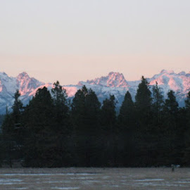 MOUNT STUART by Cynthia Dodd - Novices Only Landscapes ( peaceful, mountain, snow, peek, high )