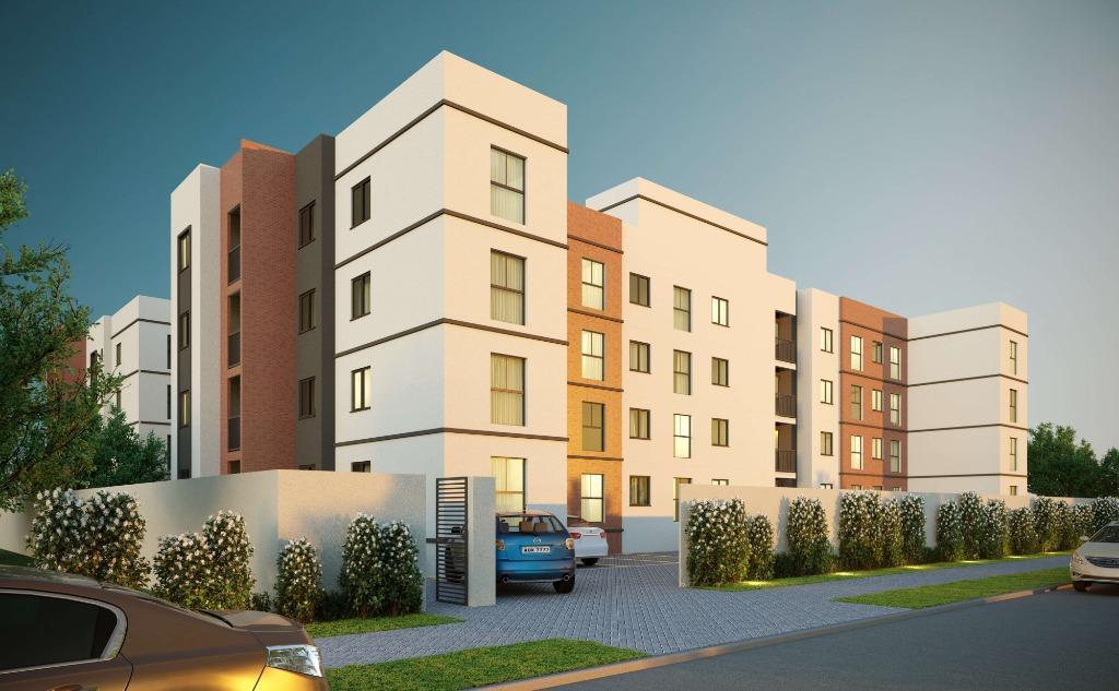 Apartamento com 2 dormitórios à venda, 44 m² por R$ 160.900 - Weissópolis - Pinhais/PR