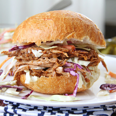 Oven Roasted Pulled Pork and Coleslaw Sandwiches