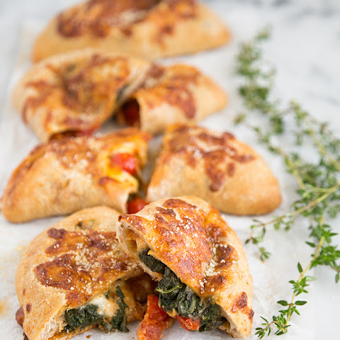 Spicy Chicken Sausage and Spinach Calzones