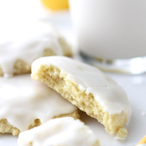 Chewy Glazed Lemon Sugar Cookies