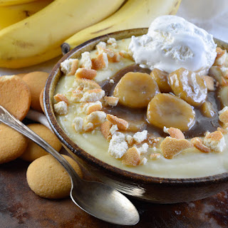 Caramelized Bananas with Homemade Vanilla Pudding