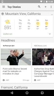 Google News & Wetter Screenshot