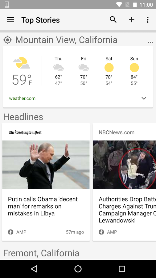 Google News & Weather Screenshot 0