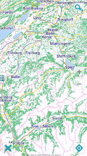 Map of Switzerland offline - screenshot