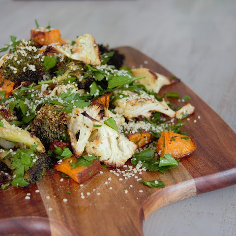 Roast Cauliflower & Broccoli Salad