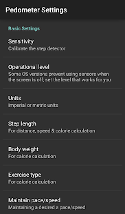 pedometer walking & running- screenshot