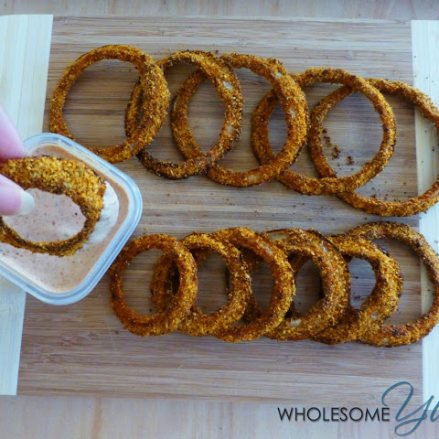Cajun Parmesan Onion Rings with Spicy Dip (Gluten-Free)