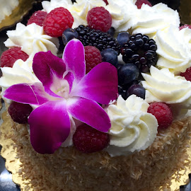 Berries with Flower Cake by Lope Piamonte Jr - Food & Drink Candy & Dessert