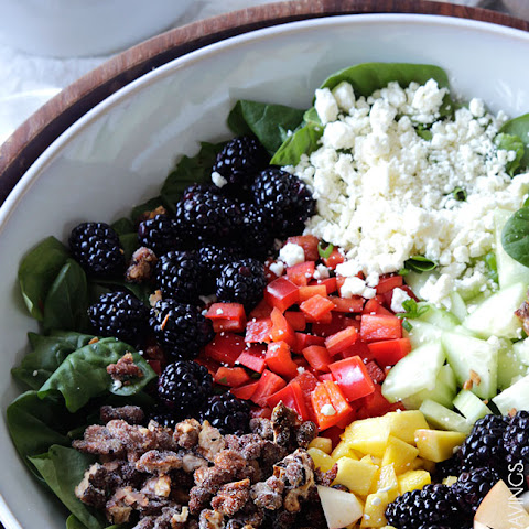 Blackberry Honey Walnut Salad