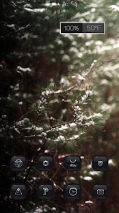 Winter snow melts theme - screenshot