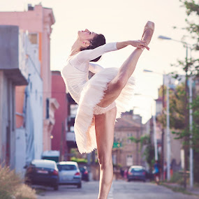 Street ballerina by MIHAI CHIPER - People Portraits of Women