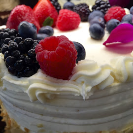 Berries on White Cake by Lope Piamonte Jr - Food & Drink Cooking & Baking