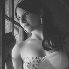 The waiting by Lodewyk W Goosen-Photography - Wedding Bride ( love, weddings, wedding, marriage, bride )