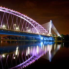 Putrajaya Bridge by Zakaria Sahli - Buildings & Architecture Bridges & Suspended Structures ( putrajaya, low light, architecture, bridge, river )