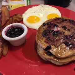 Gluten Free Blueberry Pancake Combo