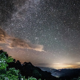 Stecoah Gap at Midnight by Drew Campbell - Landscapes Starscapes
