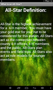 4-H All-Star Information - screenshot